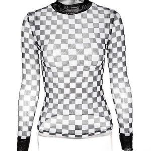 Tops - Sheer Checker Top